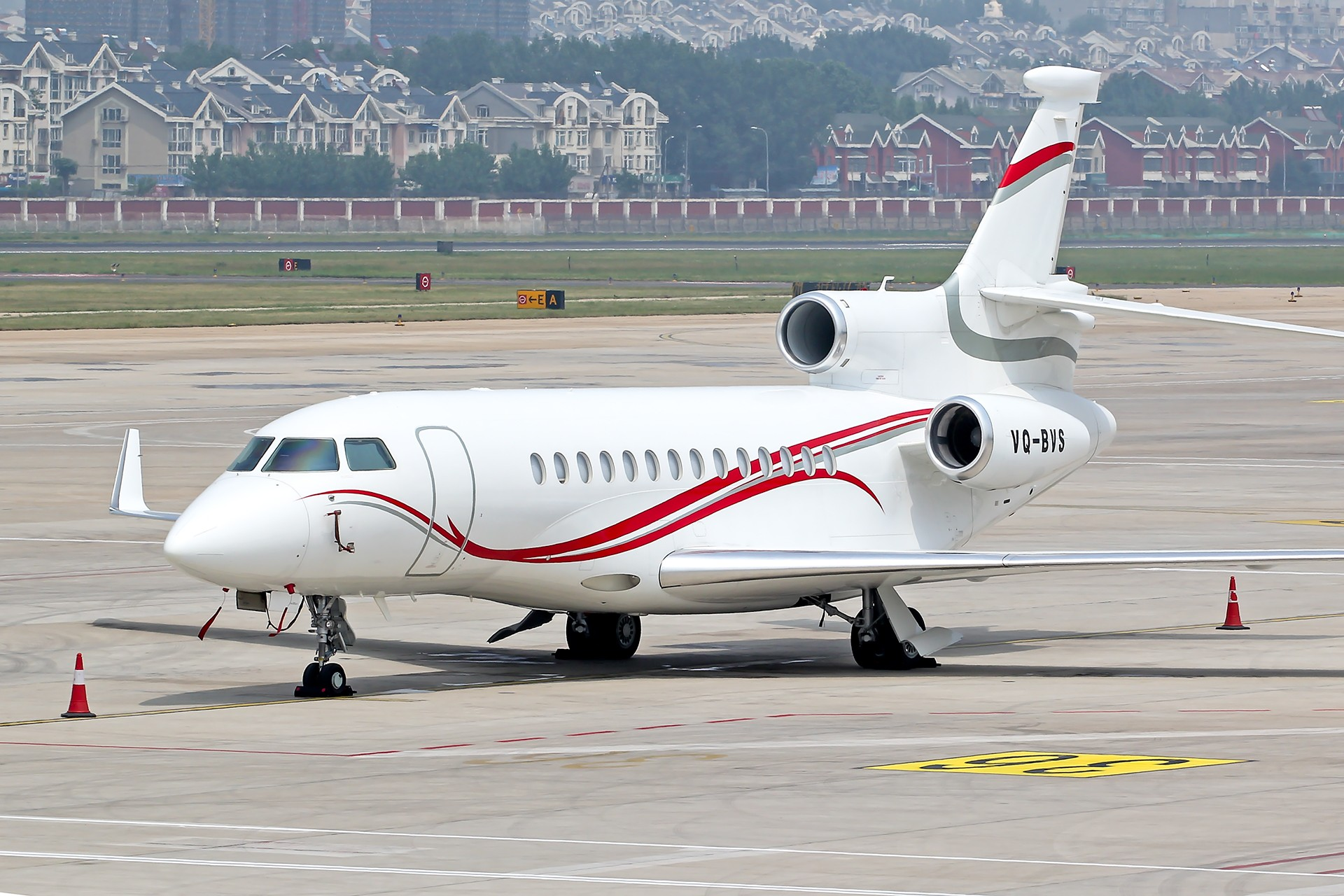 [原创]Dassault Falcon 7X DASSAULT FALCON 7X VQ-BVS 中国大连周水子国际机场