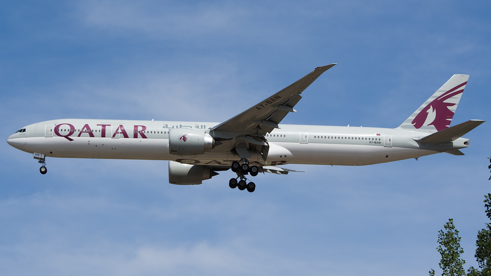 Re:[原创]PEK01午后两小时抓拍,其实是为AA的One World来的 BOEING 777-300ER A7-BAN 中国北京首都国际机场