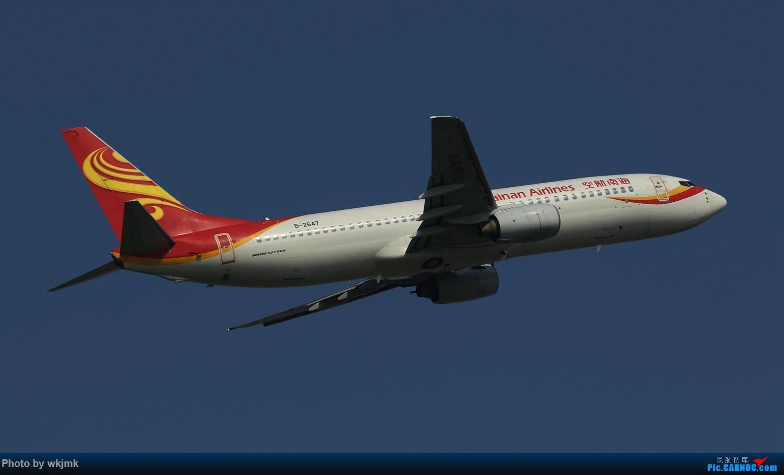 Re:[原创]CKG拍20R起飞 BOEING 737-800 B-2647 中国重庆江北国际机场