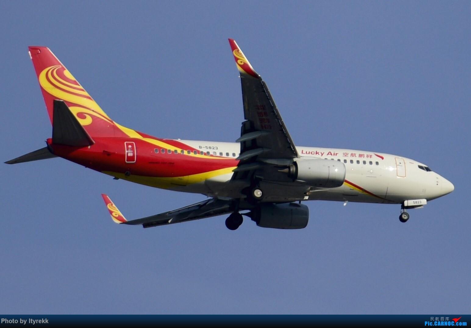 Re:[原创]6月的天气总是变化多端 BOEING 737-700 B-5823 中国芒市机场