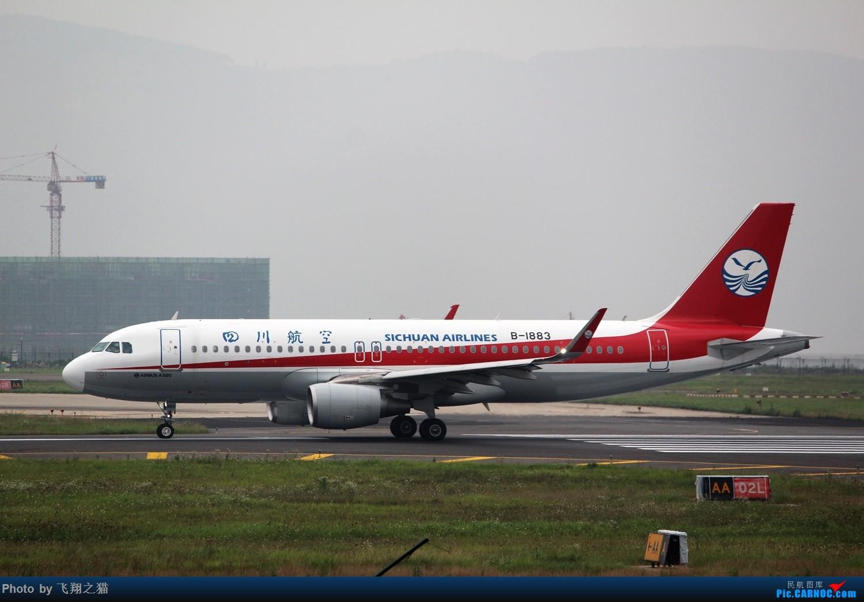 Re:[原创]CKG拍机(东航新华网彩绘终于拍到了) AIRBUS A320-200 B-1883 重庆江北国际机场