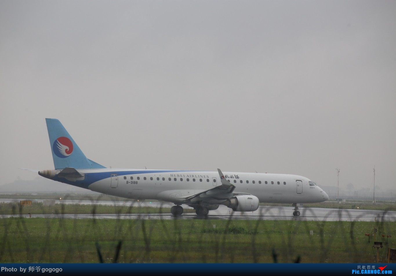 Re:[原创]雨天CKG处子行。 EMBRAER E-190 B-3199 重庆江北国际机场
