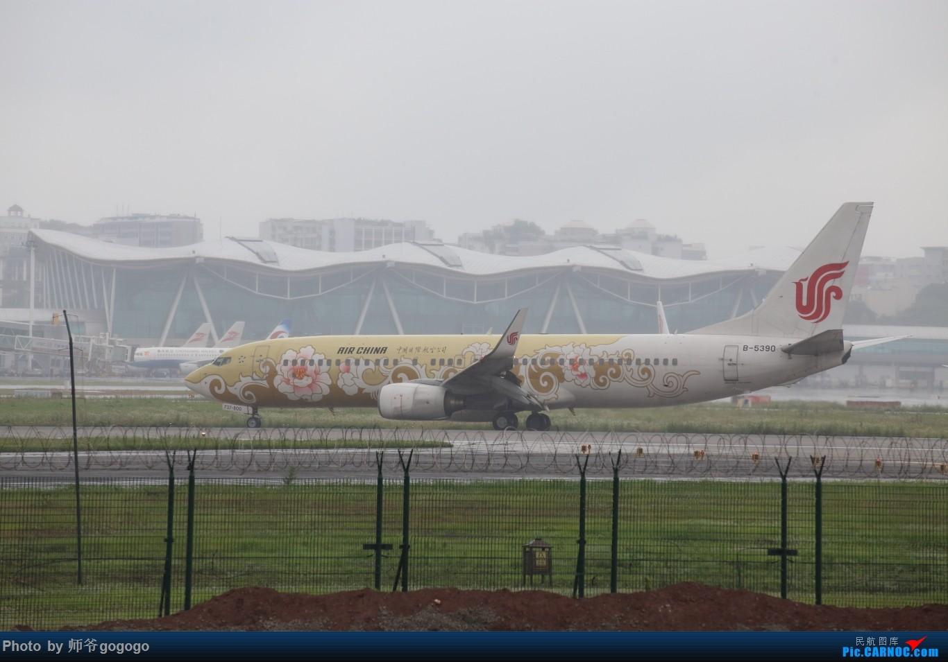 Re:[原创]雨天CKG处子行。 BOEING 737-800 B-5390 重庆江北国际机场
