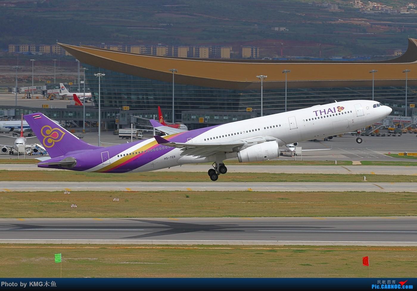"""Re:[原创]【KMG】【昆明长水国际机场】遇见 """"泰美丽"""" AIRBUS A330-300 HS-TER 中国昆明长水国际机场"""