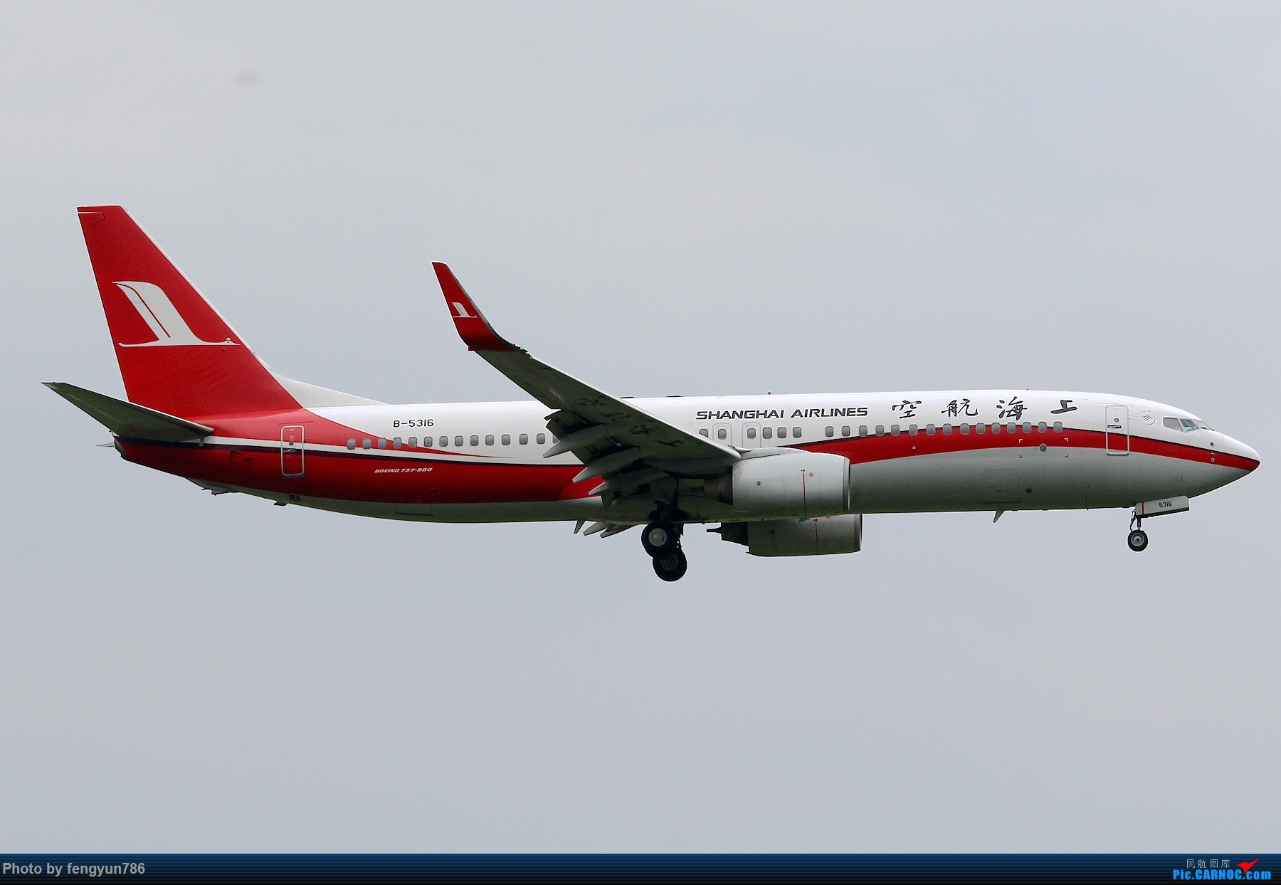 Re:[原创]新人首贴,6.18 SHA流水账 BOEING 737-800 B-5316 中国上海虹桥国际机场