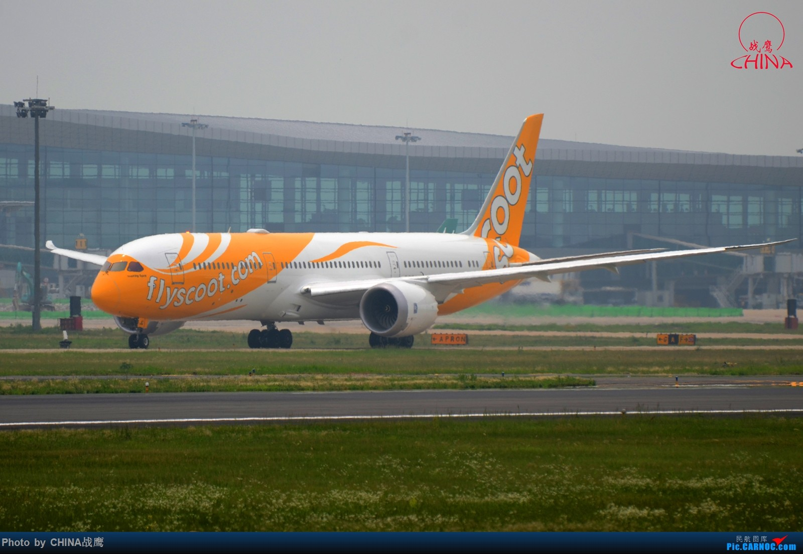 Re:[原创][SHE]透着竹竿鸟网的缝隙拍飞机 BOEING 787-9 9V-OJC 中国沈阳桃仙国际机场