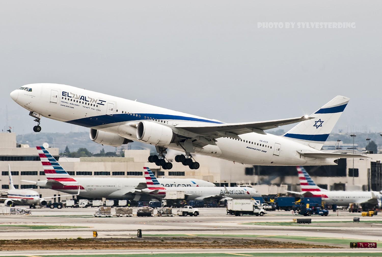 Re:[原创]【闲人伸少的小小世界19】一年半之后首次拍机,洛杉矶烂天中的国泰香港精神号,新装伊比利亚346,美联航789闪灯等等,附赠西雅图波特兰美景 BOEING 777-200ER 4X-ECF 美国洛杉矶机场