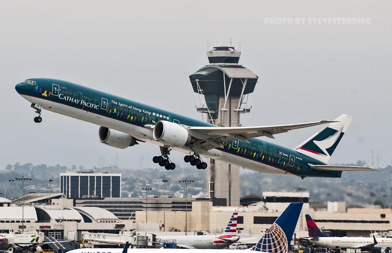 Re:[原创]【闲人伸少的小小世界19】一年半之后首次拍机,洛杉矶烂天中的国泰香港精神号,新装伊比利亚346,美联航789闪灯等等,附赠西雅图波特兰美景 BOEING 777-300ER B-KPB 美国洛杉矶机场
