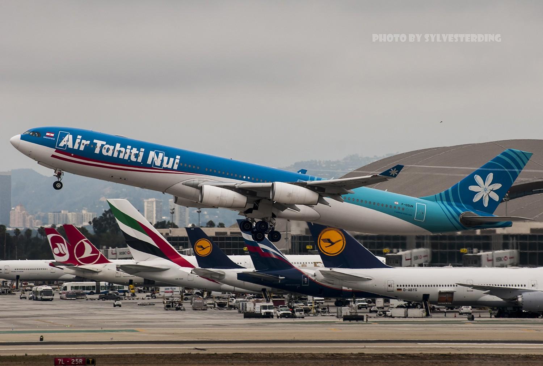 Re:[原创]【闲人伸少的小小世界19】一年半之后首次拍机,洛杉矶烂天中的国泰香港精神号,新装伊比利亚346,美联航789闪灯等等,附赠西雅图波特兰美景 AIRBUS A340-300 F-OSUN 美国洛杉矶机场