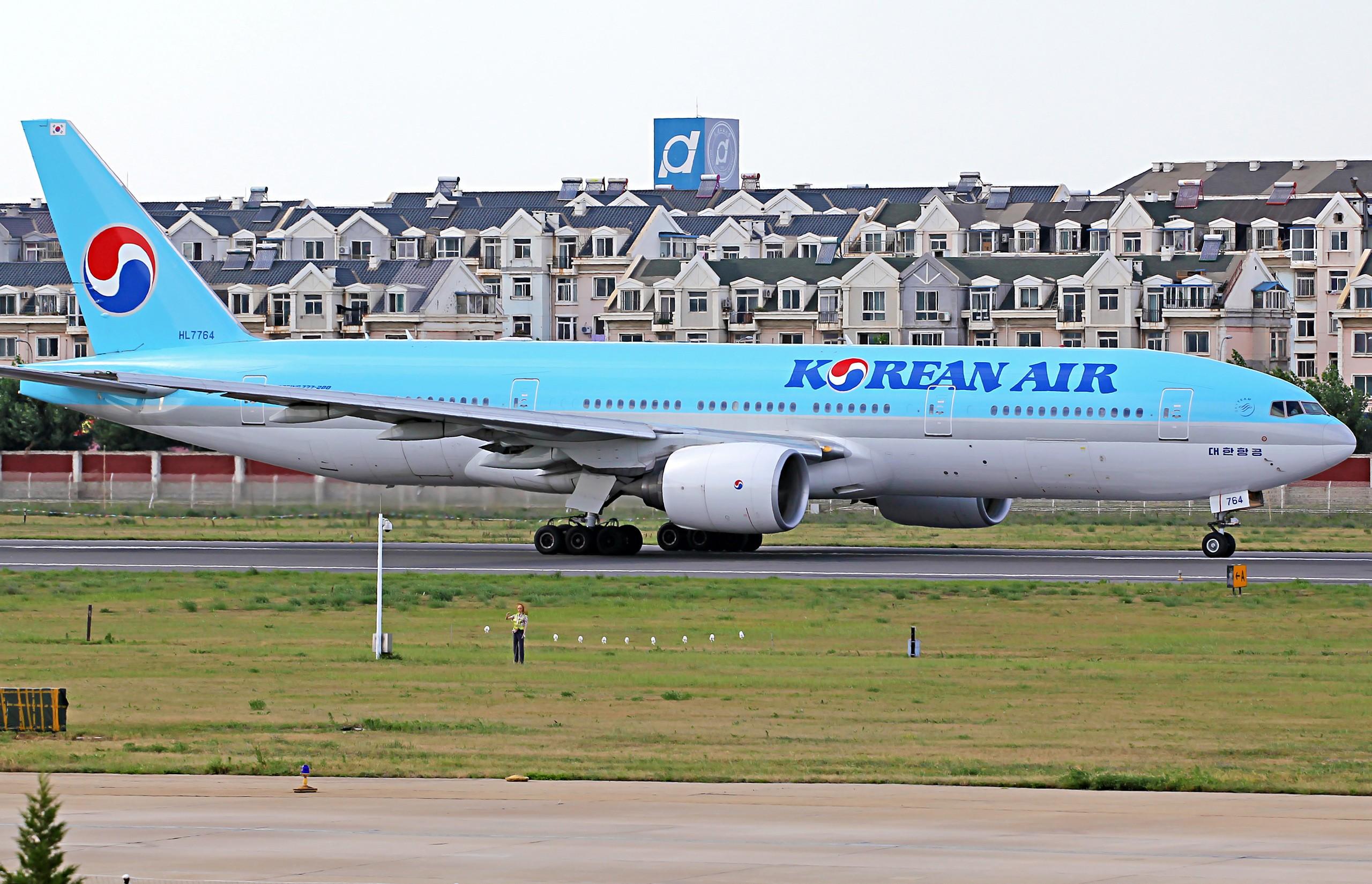 Re:[原创][DLC]2560x1707Pix BOEING 777-200 HL7764 中国大连周水子国际机场