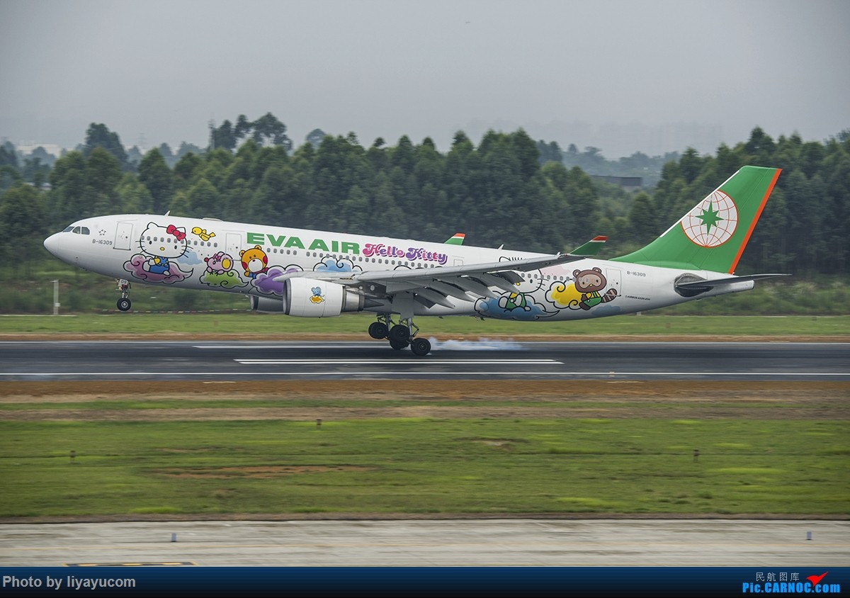 """[原创]CTU 长荣航空""""云彩机"""" AIRBUS A330-200 B-16309 中国成都双流国际机场"""