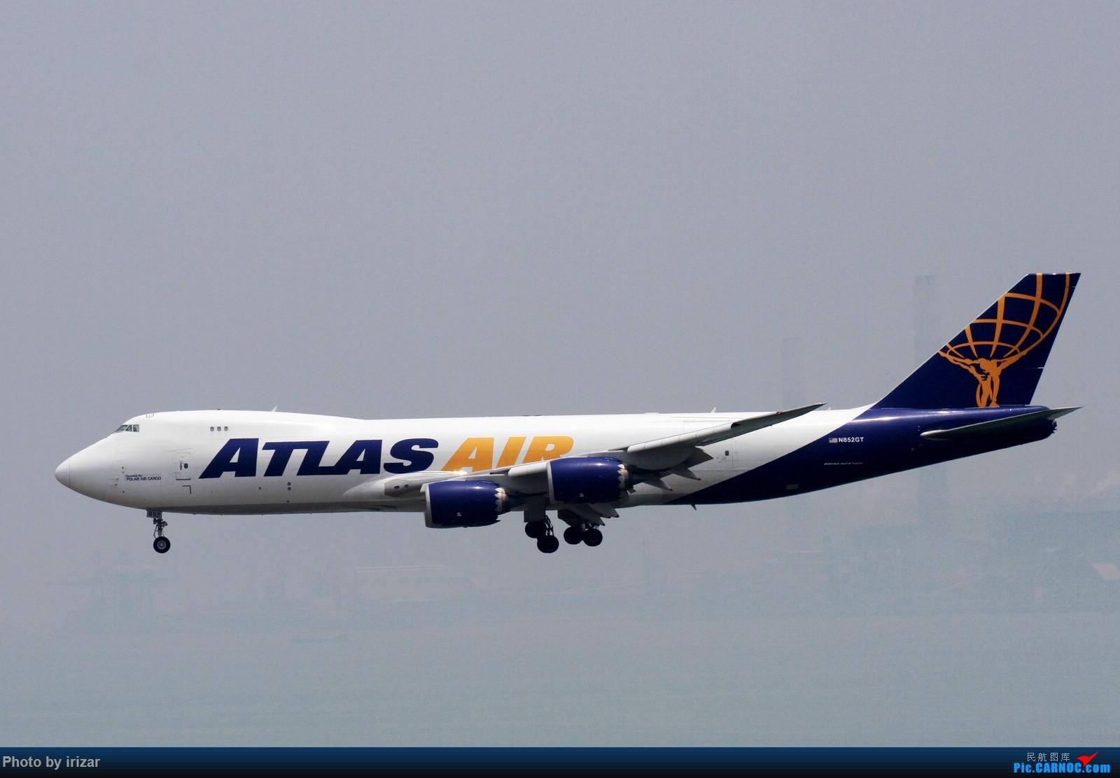第一次去HKG遇上烂天 BOEING 747-800F N852GT 中国香港赤鱲角国际机场