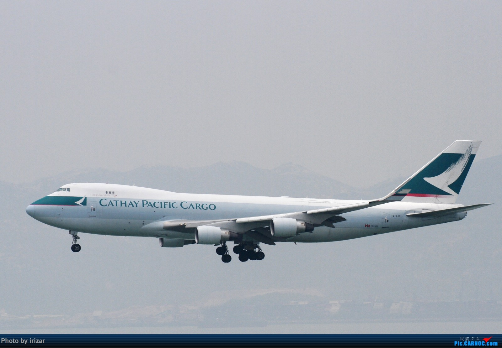 Re:[原创]第一次去HKG遇上烂天 BOEING 747-400 B-LIE 中国香港赤鱲角国际机场