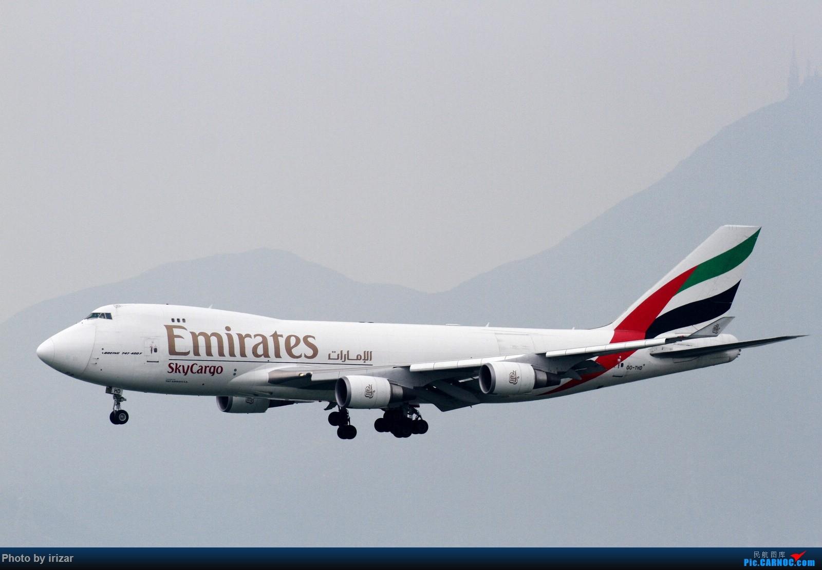 Re:[原创]第一次去HKG遇上烂天 BOEING 747-400 OO-THD 中国香港赤鱲角国际机场