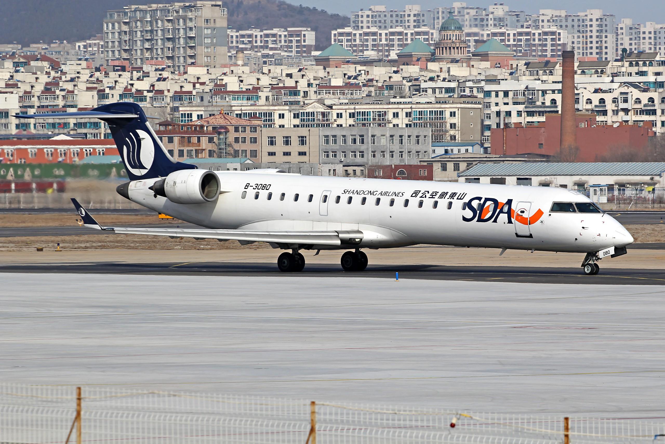 Re:[原创][DLC]...窄体机...2560x1707}Pix BOMBARDIER CRJ-700 B-3080 中国大连周水子国际机场