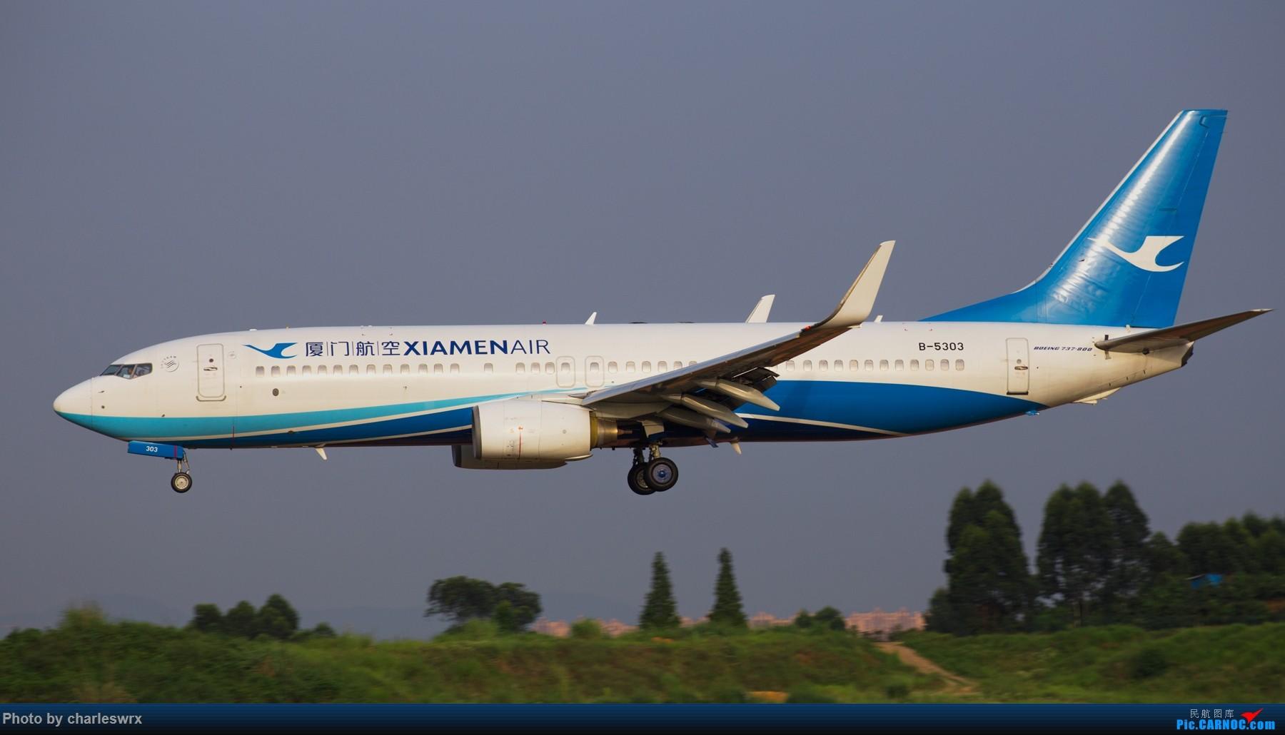 Re:[原创]夕阳余晖下的CTU BOEING 737-800 B-5303 中国成都双流国际机场