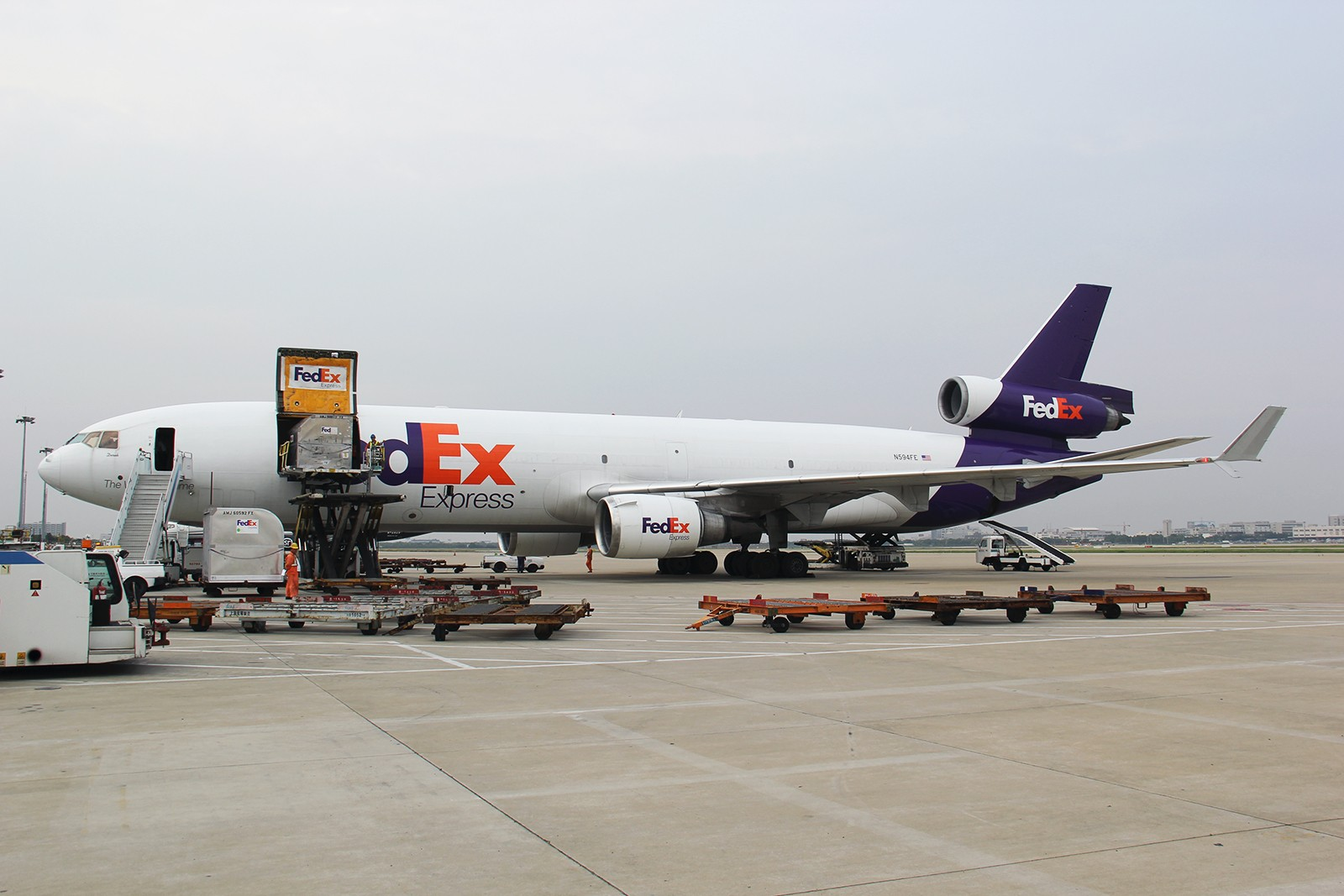 Re:【上海飞友会】时隔大半年重返ZSPD内场 好货不断不加水印大放送 MCDONNELL DOUGLAS MD-11F N594FE 中国上海浦东国际机场