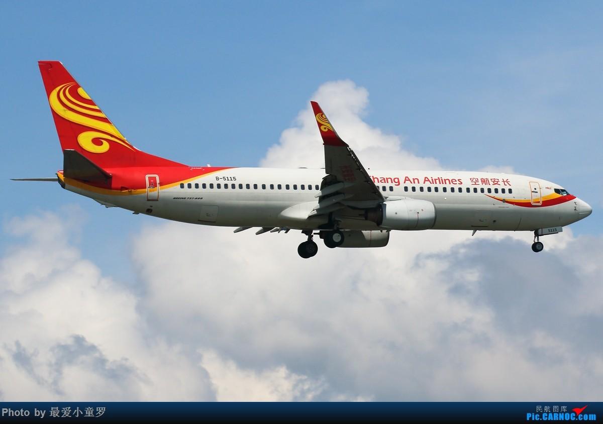 [原创]有一段时间没发图了——深圳机场六月初的天 BOEING 737-800 B-5115 中国深圳宝安国际机场