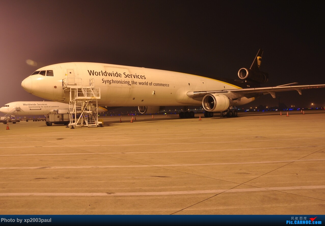 Re:[原创]【上海飞友会】ZSPD夜晚内场货区 MCDONNELL DOUGLAS MD-11F N272UP