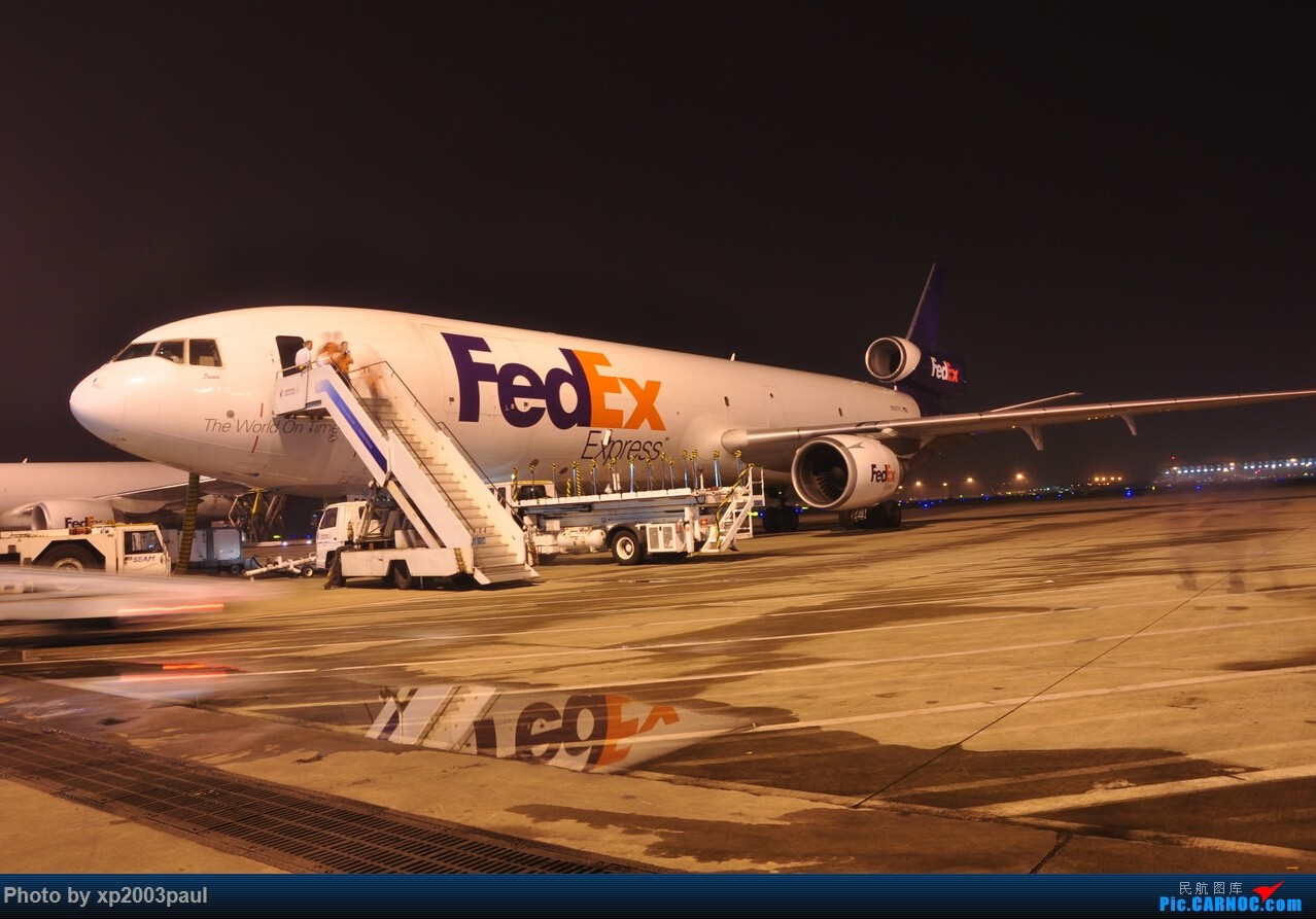 Re:[原创]【上海飞友会】ZSPD夜晚内场货区 MCDONNELL DOUGLAS MD-11F N587FE
