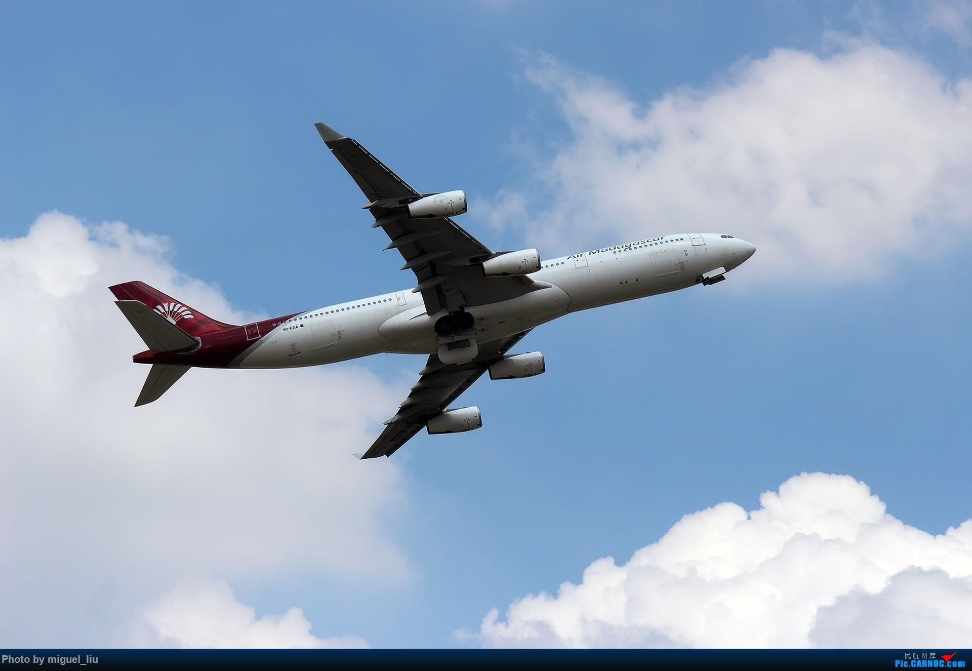 [原创][*********Miguel_liu********]7月28日例行打卡 AIRBUS A340-300 5R-EAA 中国广州白云国际机场