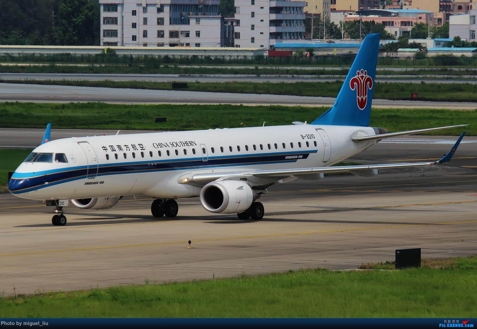 Re:[原创][*********Miguel_liu********]7月28日例行打卡 EMBRAER E-190 B-3210 中国广州白云国际机场