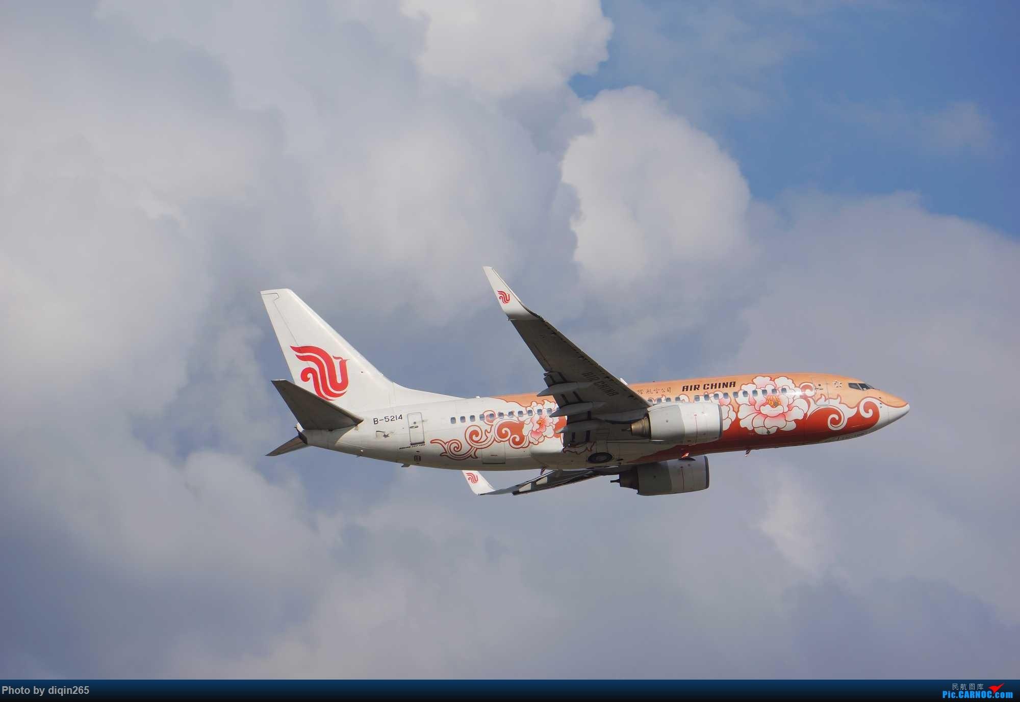 [原创]CKG最近几天拍机现状:天气好 人受罪 心敞亮 BOEING 737-700 B-5214 重庆江北国际机场