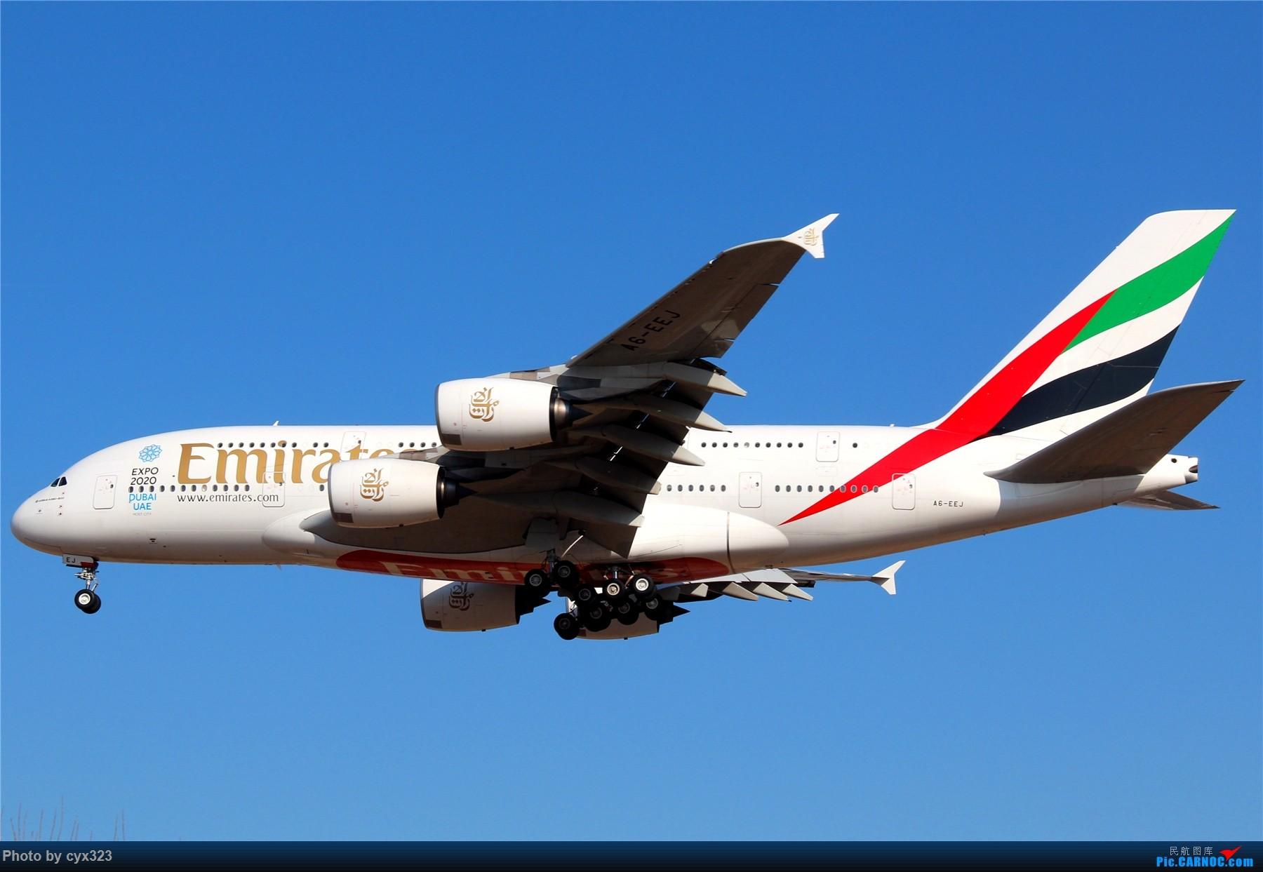 Re:[原创]纪念自己注册CARNOC十周年,PEK一些存货和新拍 AIRBUS A380-800 A6-EEJ 中国北京首都国际机场