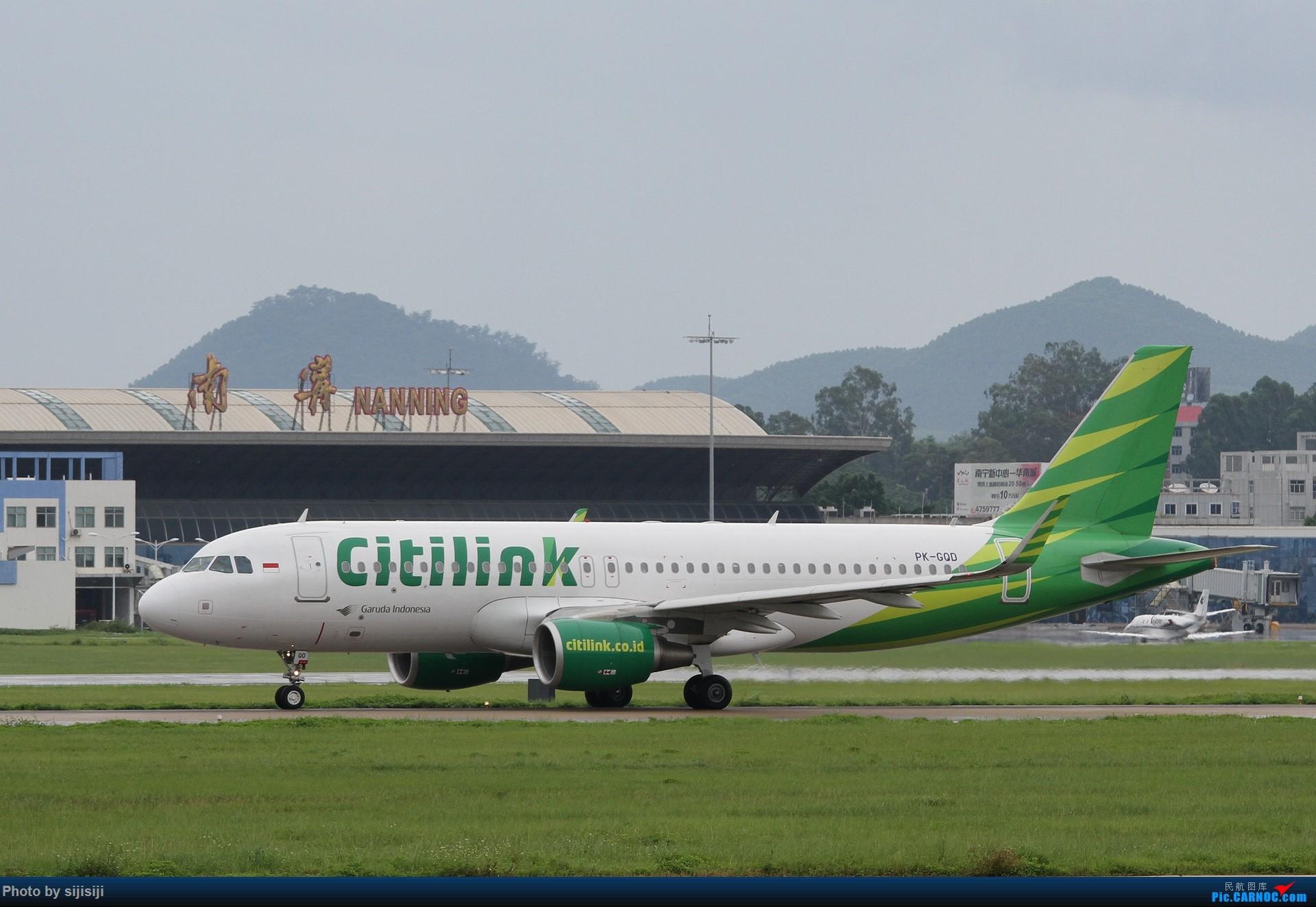 [原创]【NNG飞友星星随拍】NNG的稀客:我来自雅加达,俺爹是嘉鲁达 AIRBUS A320-200 PK-GQD 中国南宁吴圩国际机场
