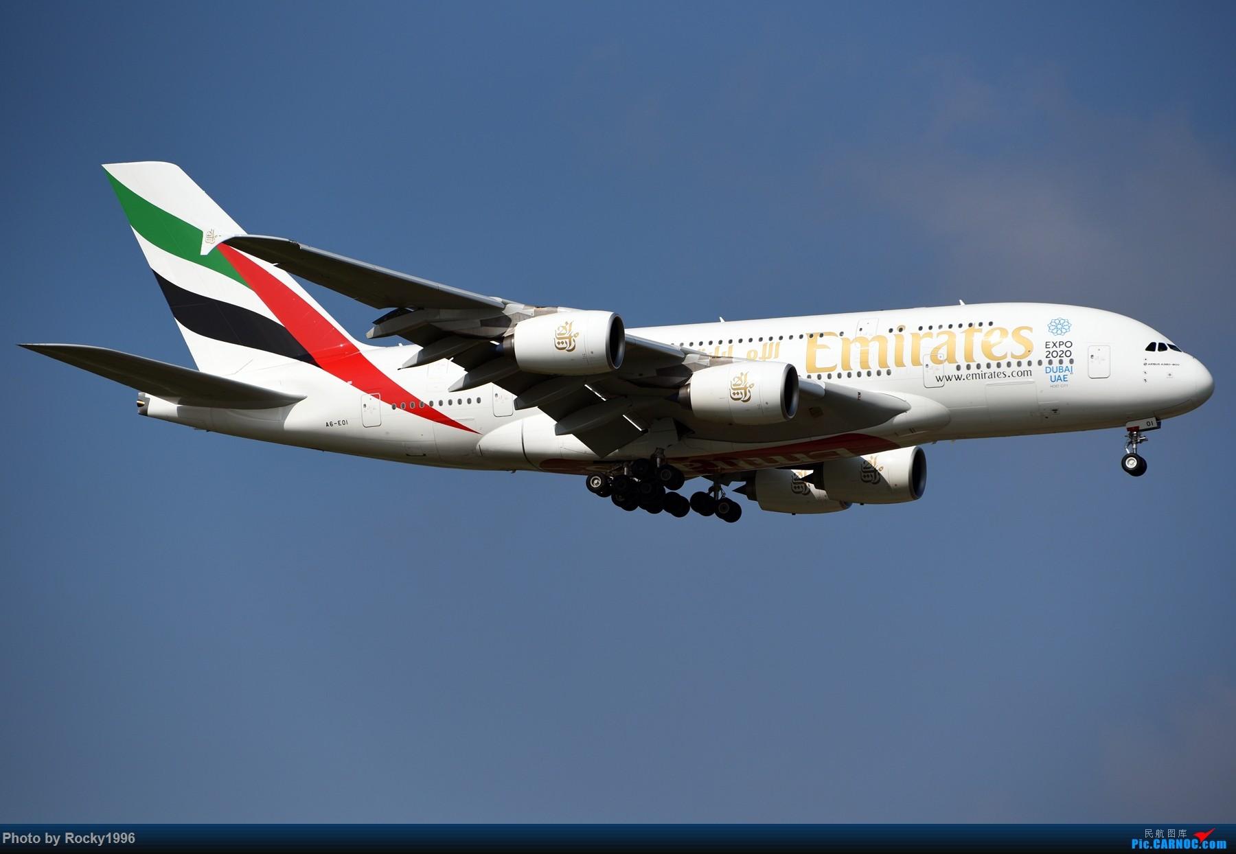 [原创]浦东好天,就要胖子棍子一把抓!! AIRBUS A380-800 A6-EOI 中国上海浦东国际机场