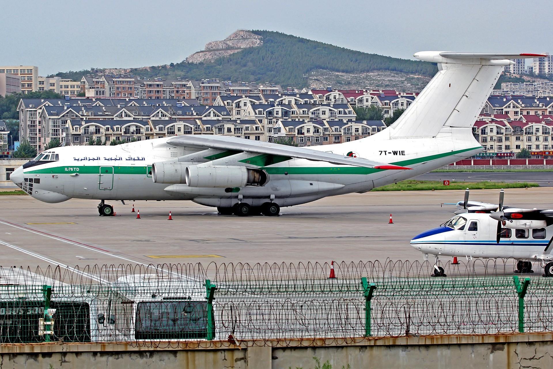 Re:[原创][DLC]... 阿尔及利亚空军 IL-76TD…璀璨星昼夜 ILYUSHIN IL-76-TD 7T-WIET 中国大连周水子国际机场