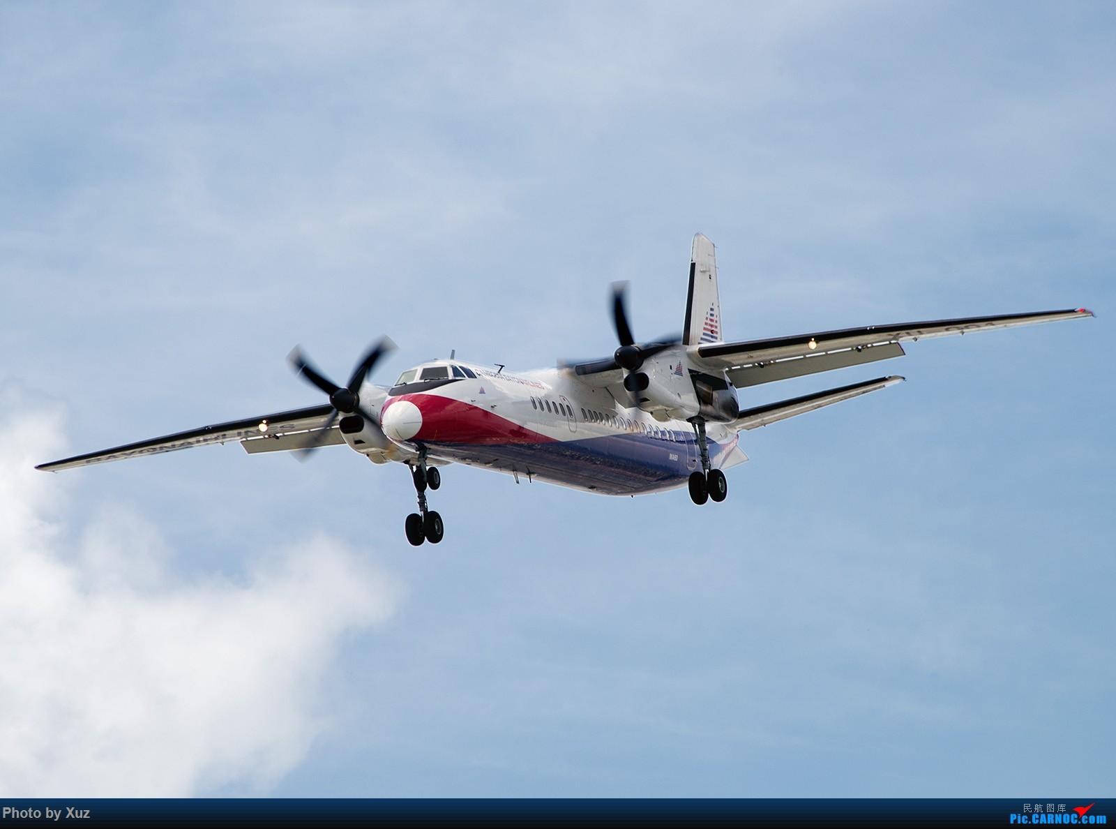 柬埔寨巴戎航空的新舟60 XIAN AIRCRAFT MA 60 XU-001 越南胡志明市新山一机场