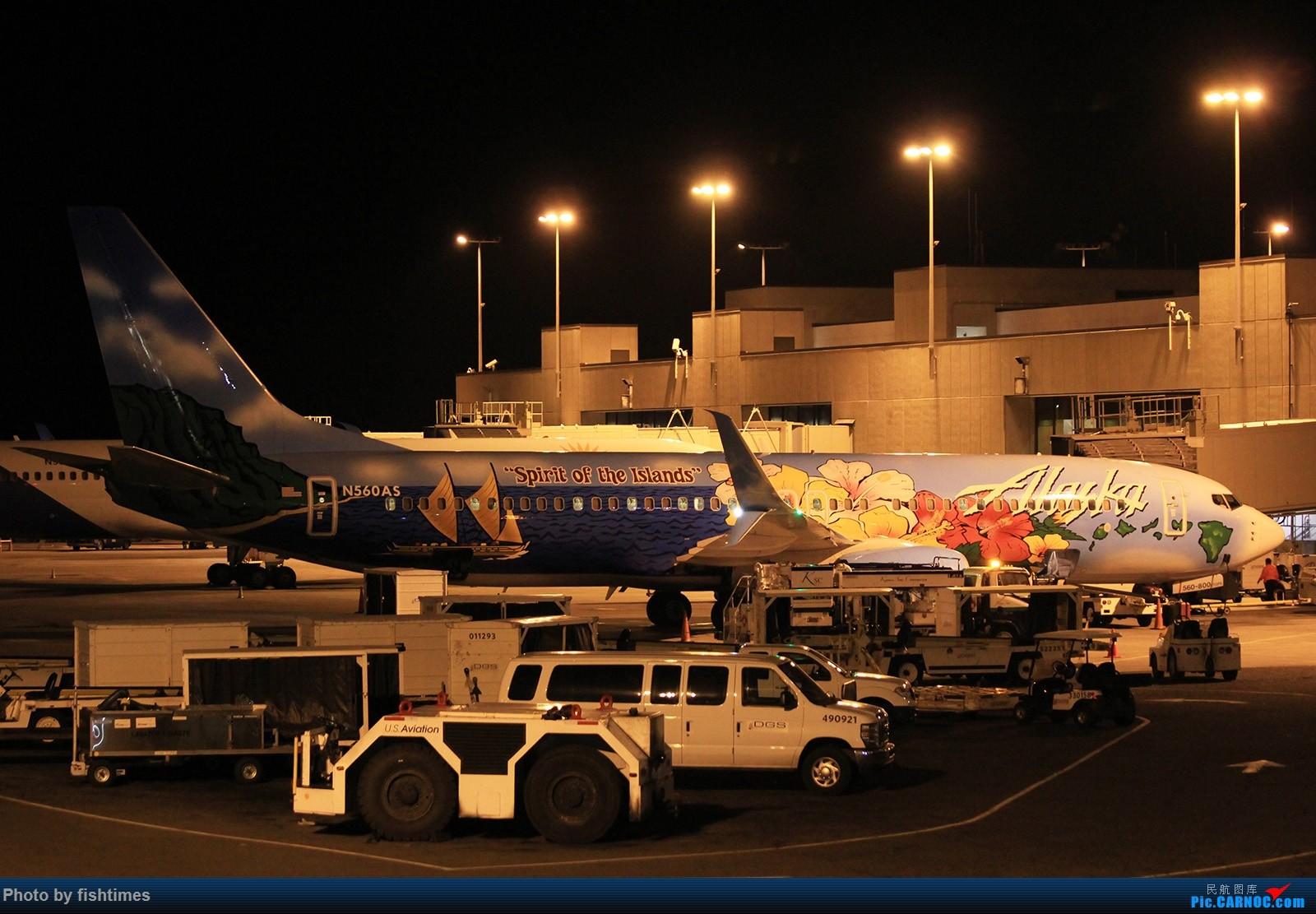 [原创]【HNL】夏威夷机场图两张_20150713 BOEING 737-800 N560AS 美国檀香山机场