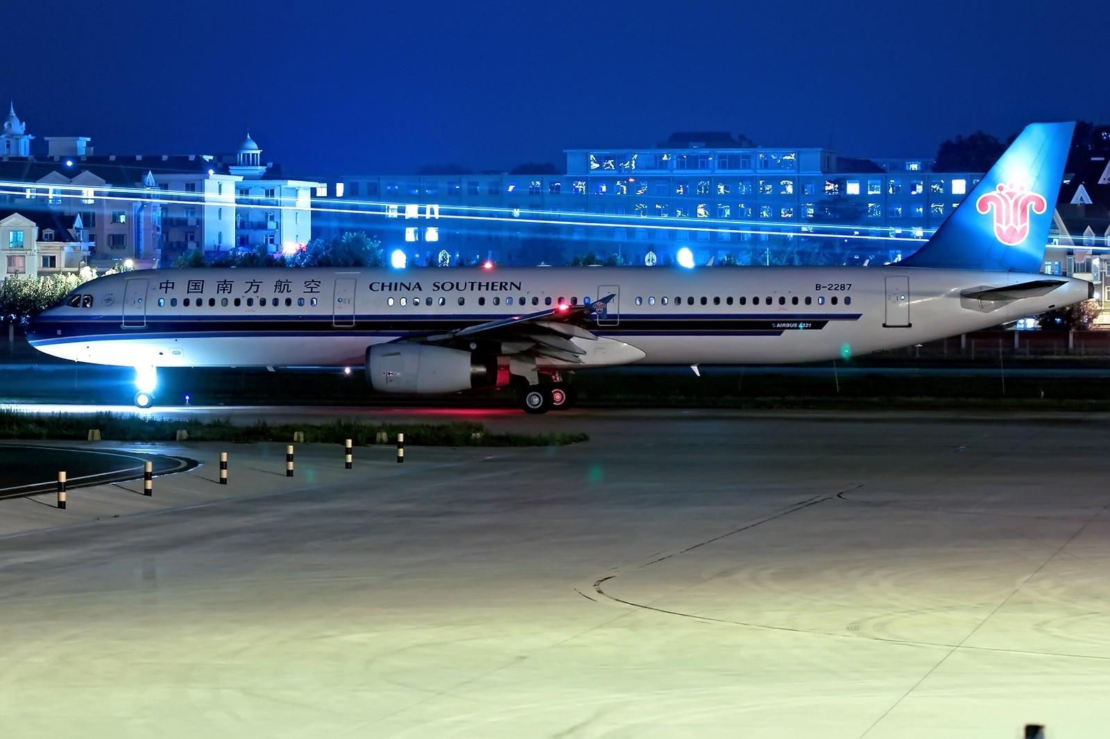 Re:[DLC]。。。璀璨星计划。。。夜 AIRBUS A321-200 B-2287 中国大连周水子国际机场