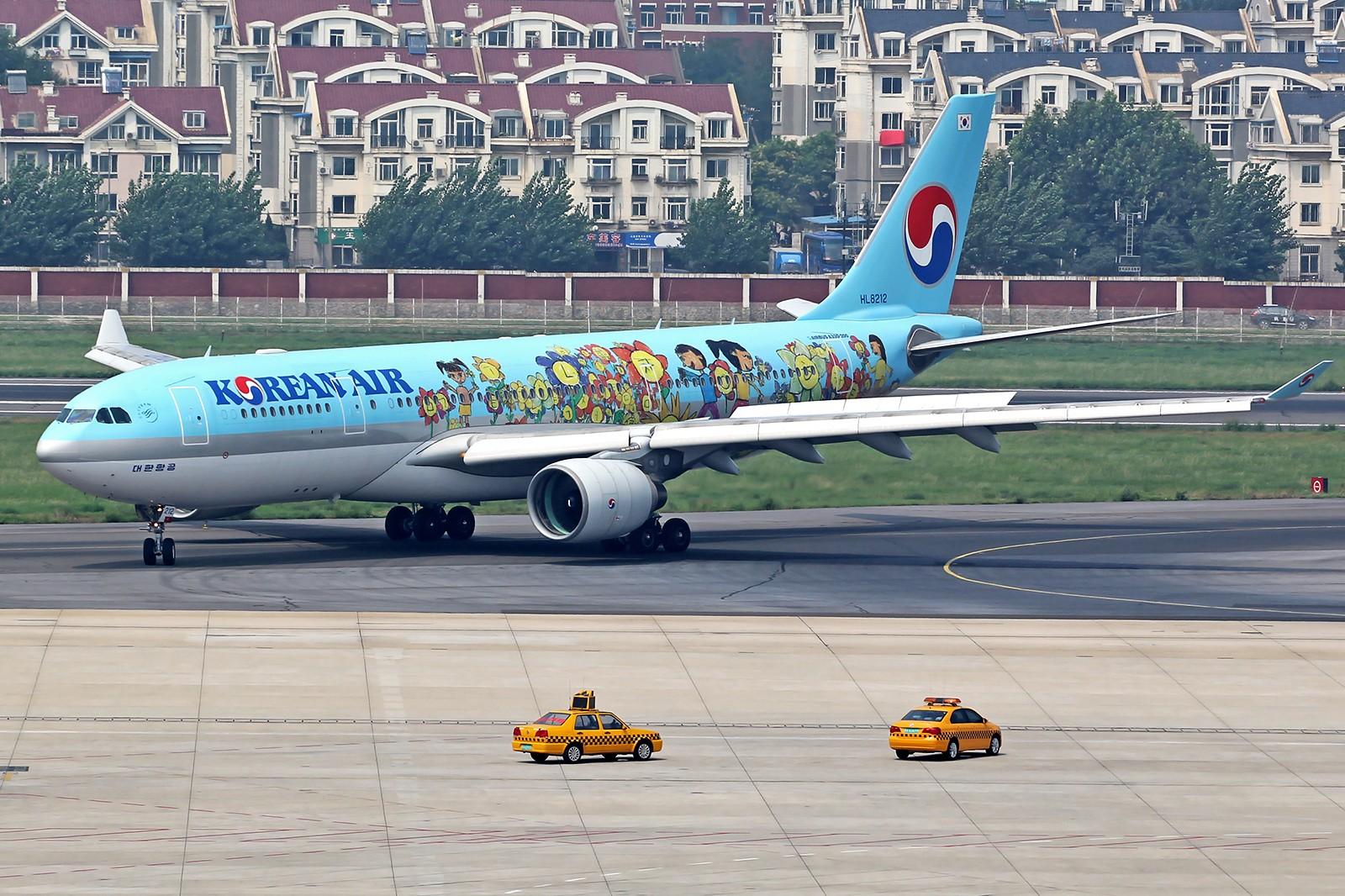 [原创][DLC]。。。烂天的大韩332彩绘。。。 AIRBUS A330-200 HL8212 中国大连周水子国际机场