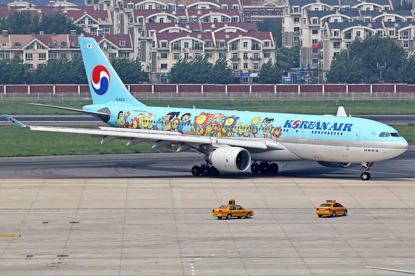 Re:[原创][DLC]。。。烂天的大韩332彩绘。。。 AIRBUS A330-200 HL8212 中国大连周水子国际机场
