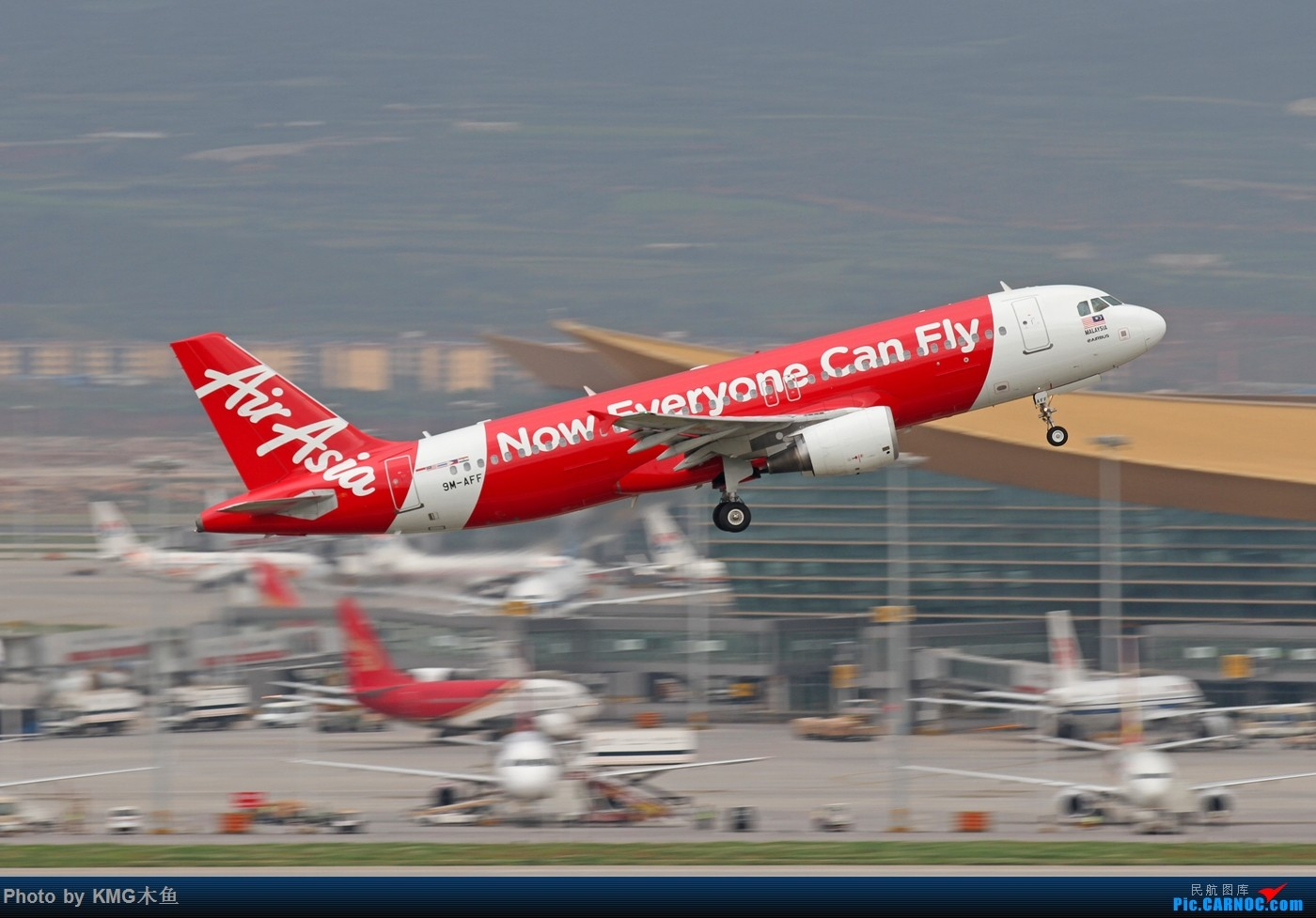 Re:[原创]【KMG】【昆明长水国际机场】8月天空不美,但是飞机很美 AIRBUS A320-200 9M-AFF 中国昆明长水国际机场