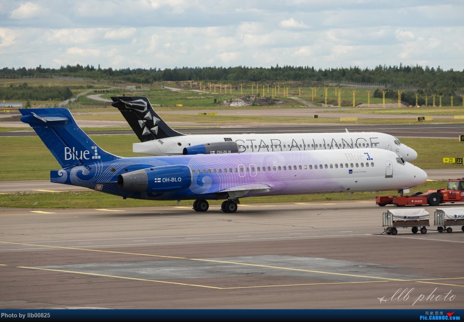 [原创]赫尔辛基-布鲁塞尔一些杂图 BOEING 717 OH-BLQ 芬兰赫尔辛基机场