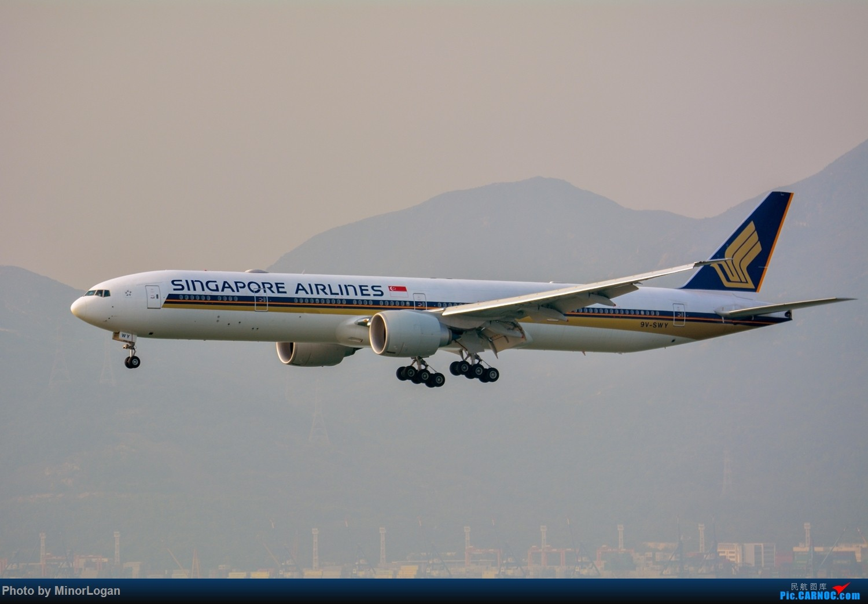 Re:[原创]三段飞行,漫漫求学路-HKG拍机篇(求砸小飞机) BOEING 777-300ER 9V-SWY 中国香港赤鱲角国际机场