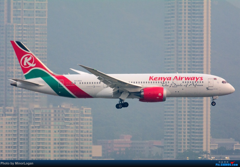 Re:[原创]三段飞行,漫漫求学路-HKG拍机篇(求砸小飞机) BOEING 787-8 5Y-KZA 中国香港赤鱲角国际机场
