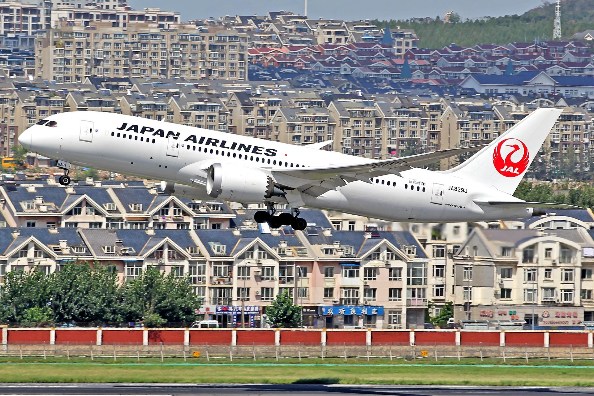 Re:[原创][DLC]。。。皇军与美女。。。 BOEING 787-8 JA829J 中国大连国际机场