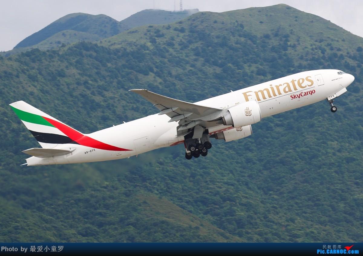 Re:[原创]小童罗的毕业拍机之旅第二站——香港国际机场第一集 BOEING 777 A6-EFK