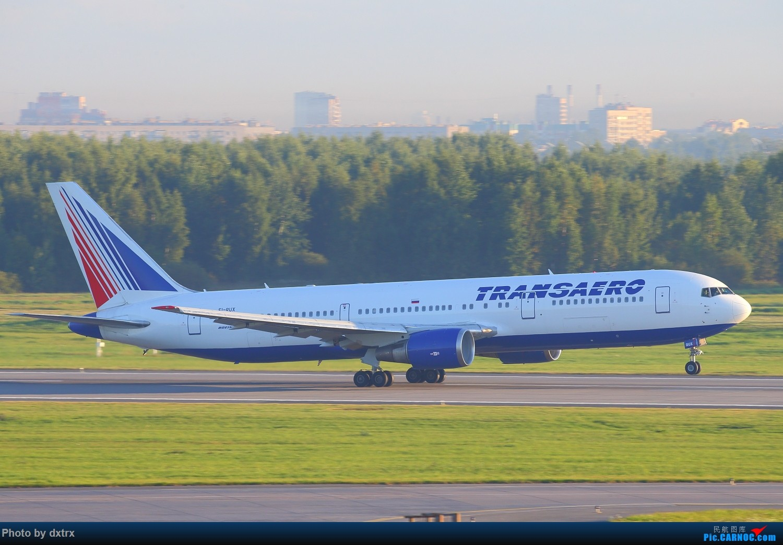 Re:[原创]再来一组俄罗斯的稀罕货(继续小飞机砸一返一,谢谢大家) BOEING 767-300ER VI-RUX 俄罗斯圣彼得堡机场