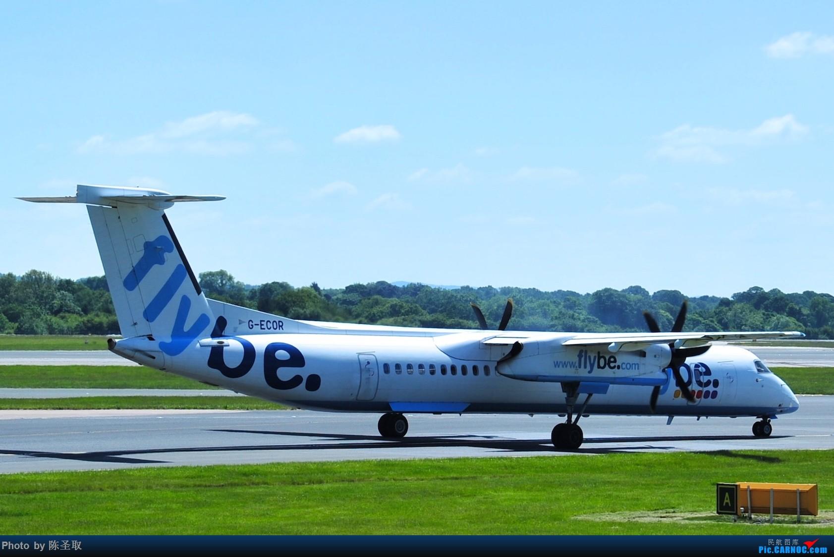 Re:[原创]迟来的6月曼城拍机图。廉价航空的天堂,曼彻斯特机场~ DE HAVILLAN CANADA DHC-8-402 G-ECOR 英国曼彻斯特机场