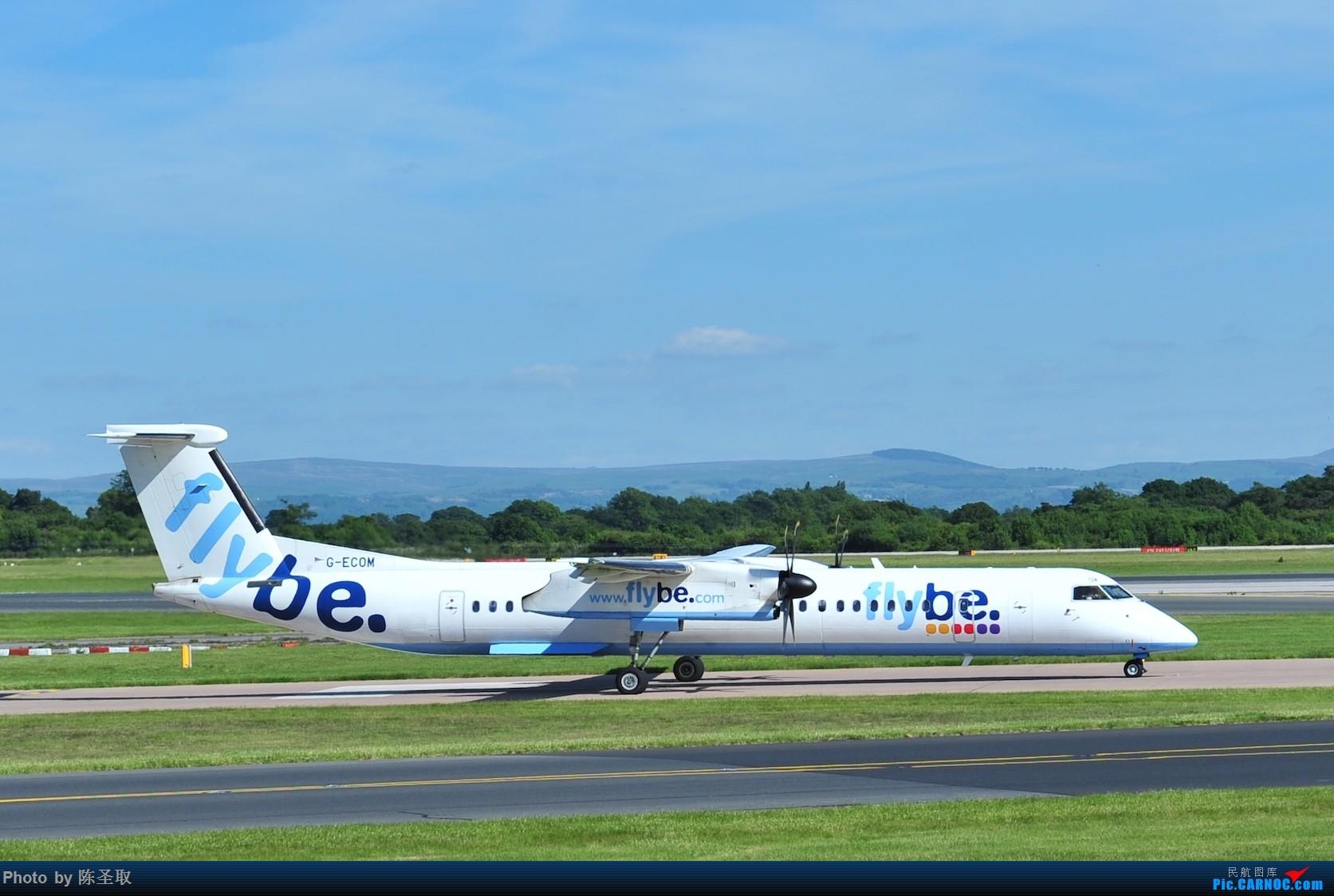 Re:[原创]迟来的6月曼城拍机图。廉价航空的天堂,曼彻斯特机场~ DE HAVILLAN CANADA DHC-8-402 G-ECOM 英国曼彻斯特机场
