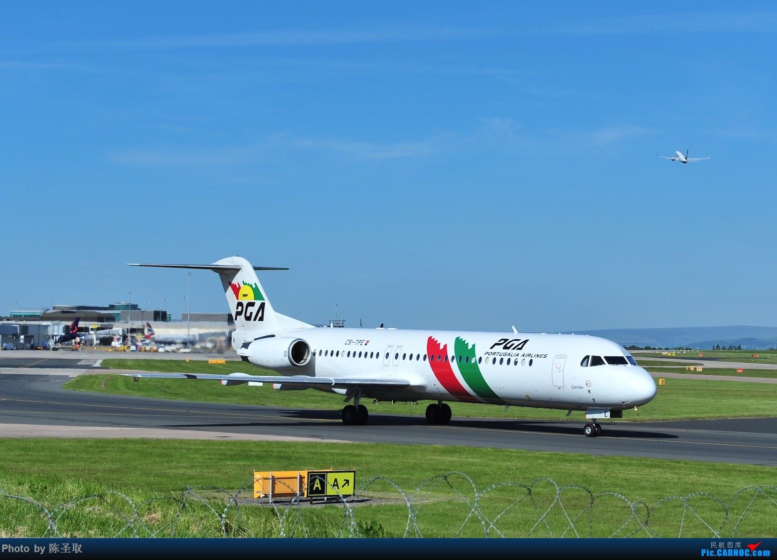 Re:[原创]迟来的6月曼城拍机图。廉价航空的天堂,曼彻斯特机场~ FOKKER 100 F28-0100 CS-TPE 英国曼彻斯特机场