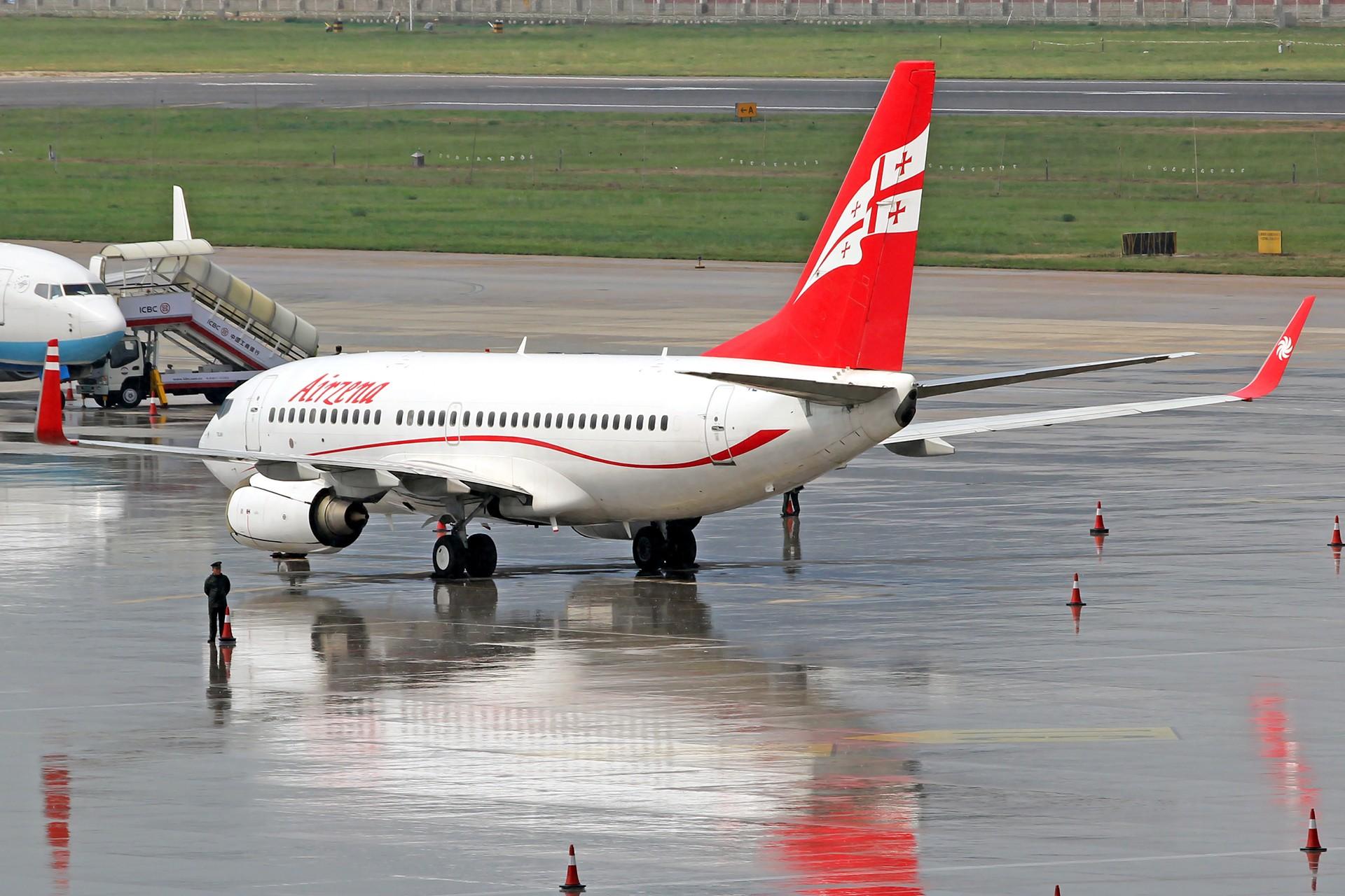 Re:[原创][DLC]。。。达沃斯公务机。。。 BOEING 737-700 4L-TGM 中国大连国际机场