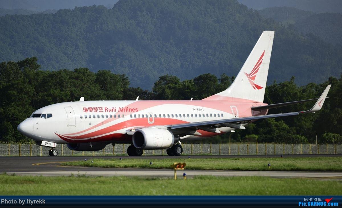 Re:[原创]【LUM】好久没发图,来一发 BOEING 737-700 B-5811 中国芒市机场