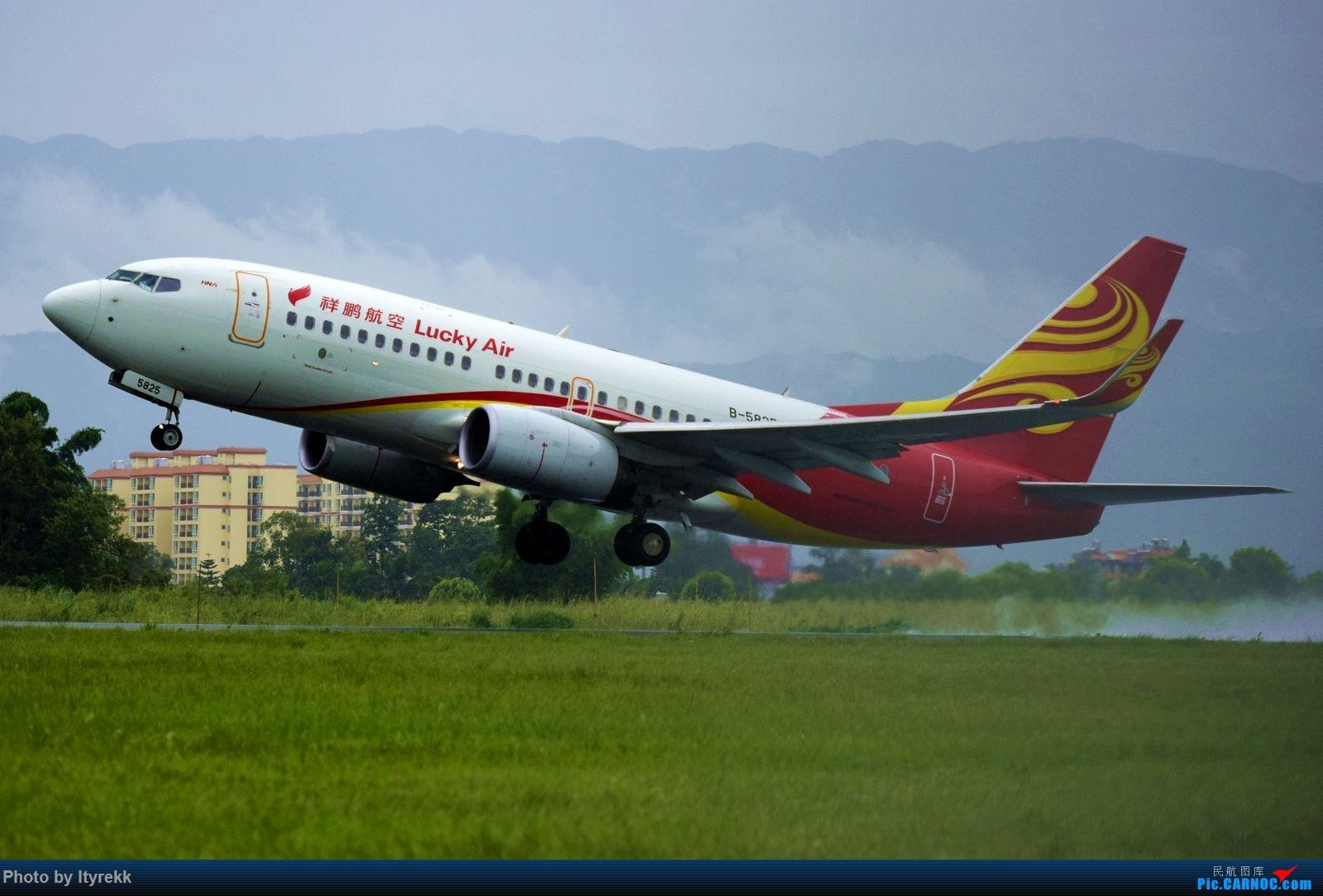 Re:[原创]【LUM】碰巧今日有空,修得几张图。 BOEING 737-700 B-5825 中国芒市机场