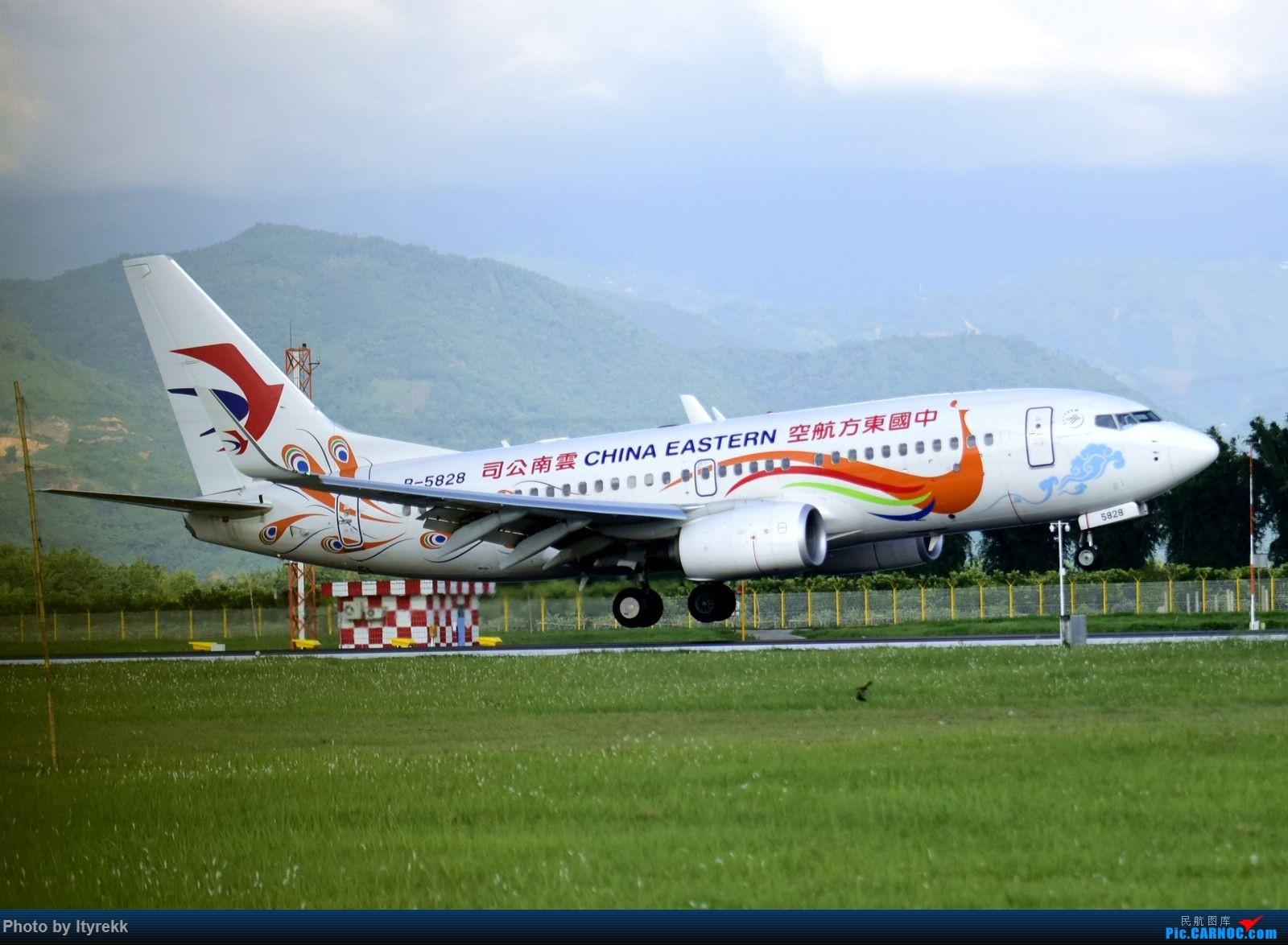 Re:[原创]【LUM】碰巧今日有空,修得几张图。 BOEING 737-700 B-5828 中国芒市机场